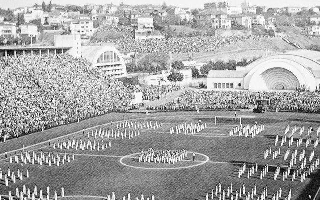 Inuguração do Pacaembu em 27 de abril de 1940.