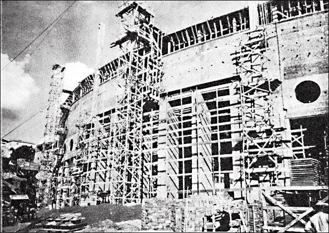 Estádio do Pacaembu em 1938.