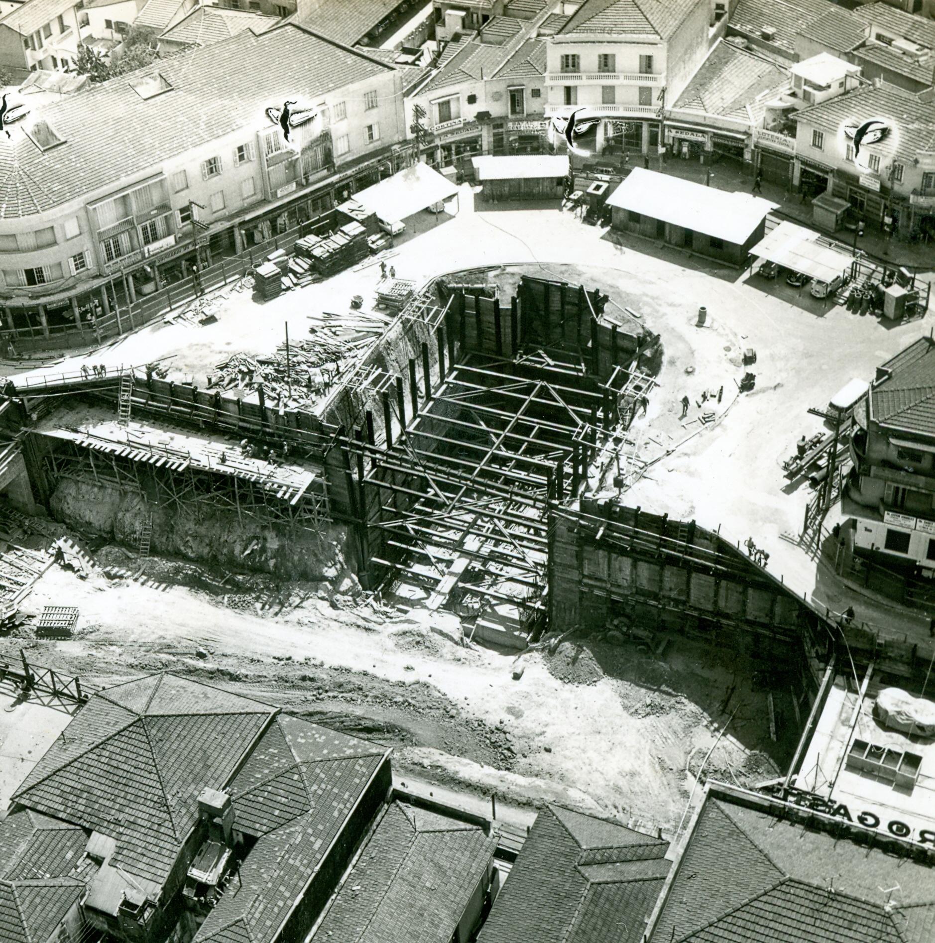 Início das obras na Estação Praça da Árvore