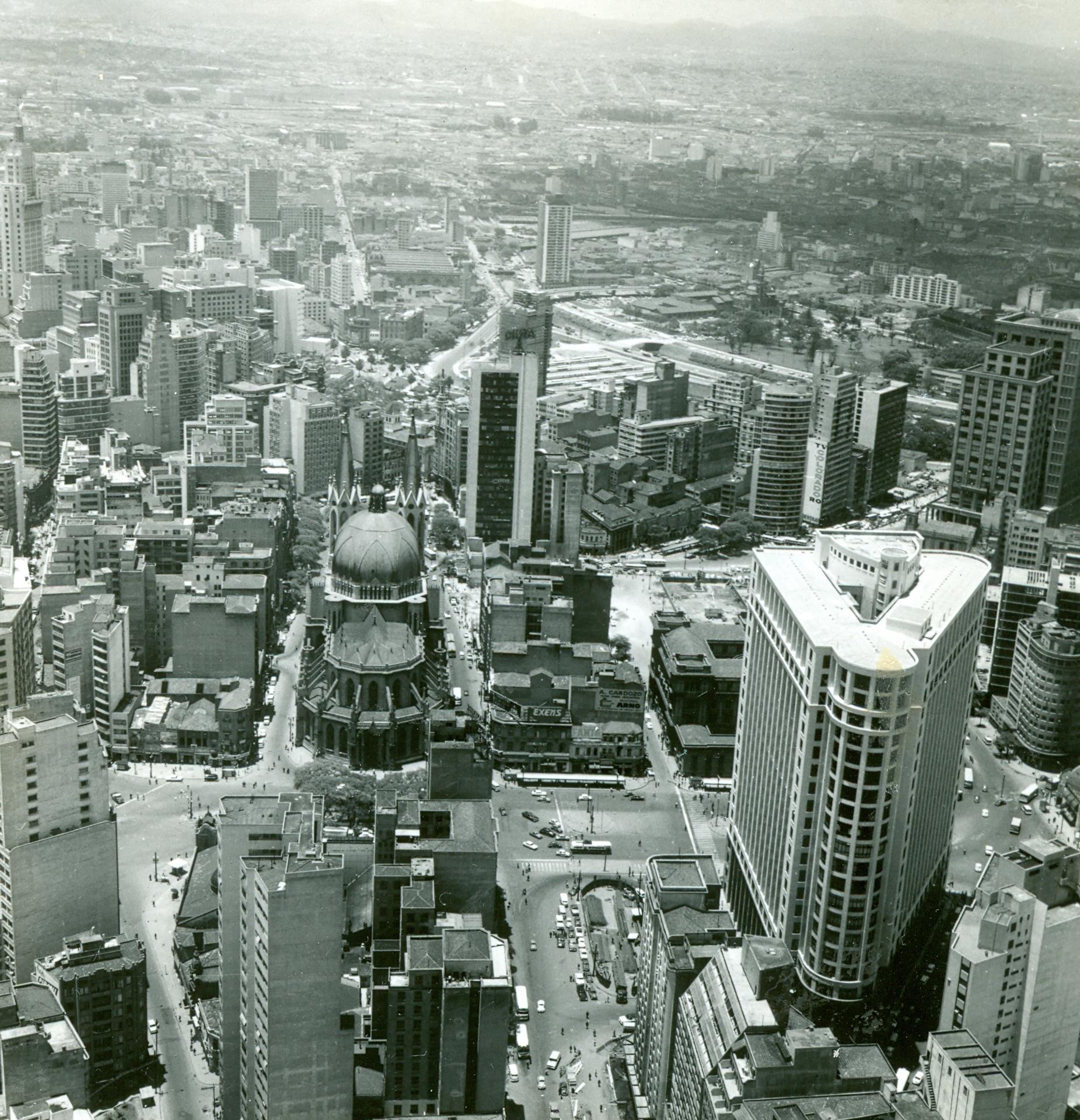 Vista aérea da Praça da Sé