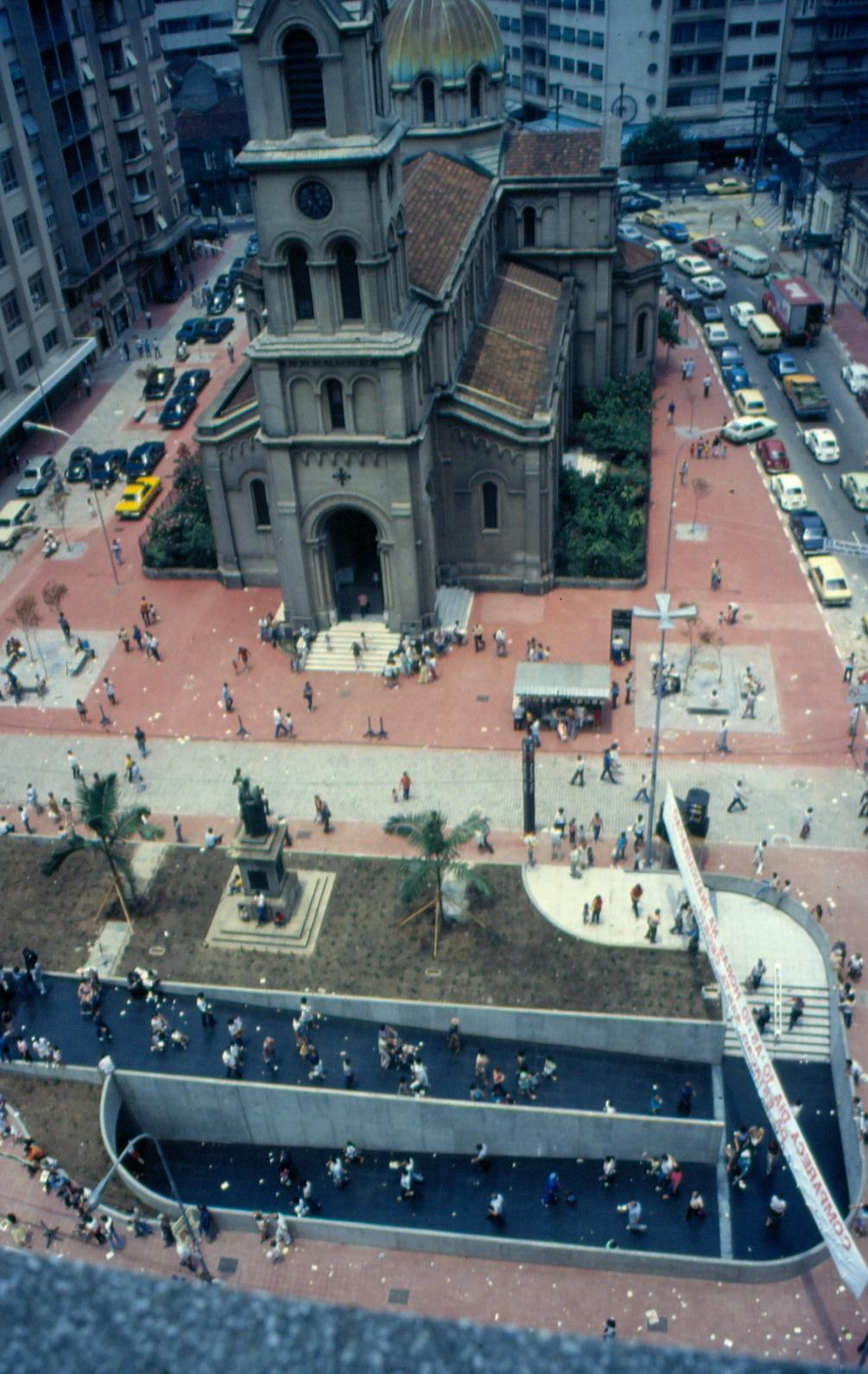 Vista aérea da Estação Santa Cecília
