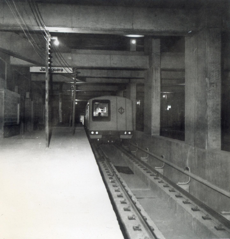 Obras civis Estação Jabaquara na década de 70