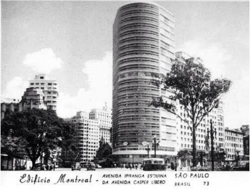 Postal da década de 50, com o edifício Montreal em destaque