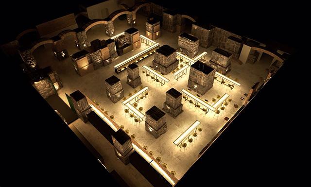 Vista aérea do espaço onde será instalado o bar
